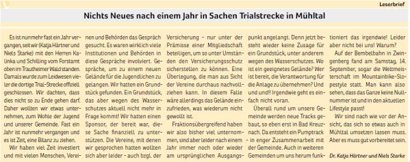 2019-10_Nichts neues nach einem Jahr in Sachen Trialstrecke in Mühltal